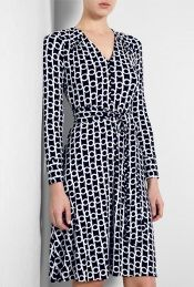 Link Print Navy Jane Dress by Milly - for work