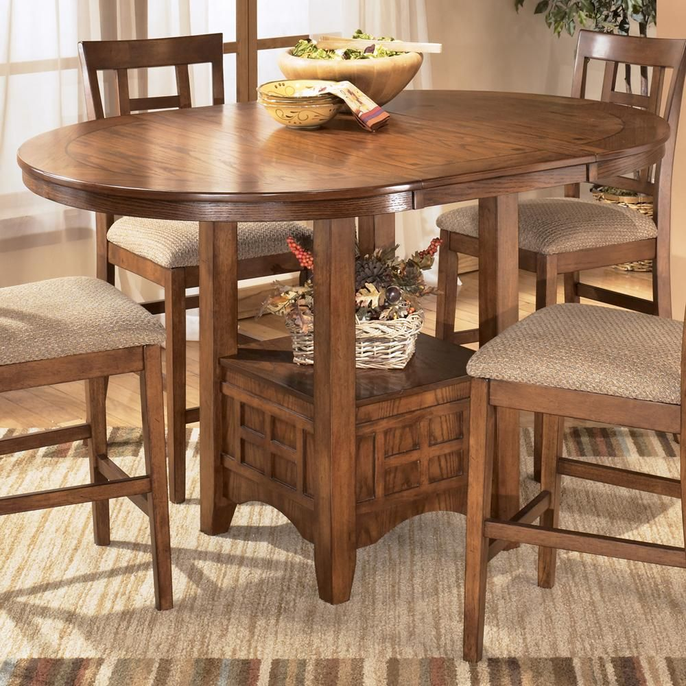 Ashley Furniture Cross Island Counter Height Extension Table   Turk  Furniture   Pub Table Joliet,
