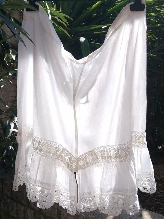 Victorian Lacy Bloomer Handmade White French by SophieLadyDeParis
