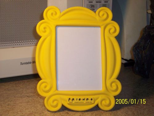 friends tv show yellow picture frame