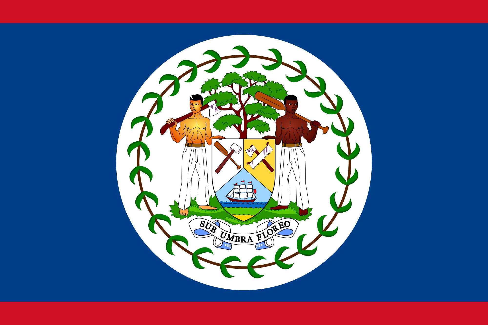 La bandera de Belize | Todos las cosas de Espanol! | Pinterest | La ...