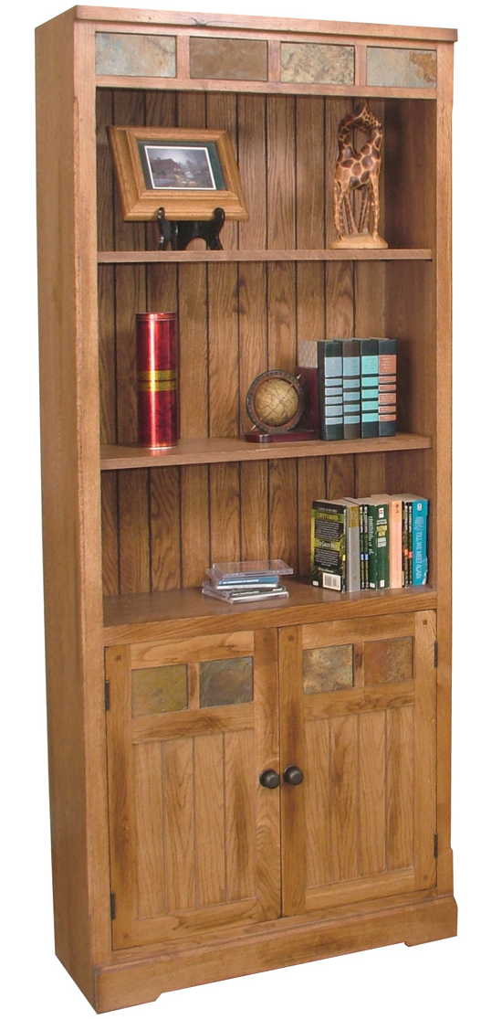 Sedona Bookcase With Doors American Home Furniture And