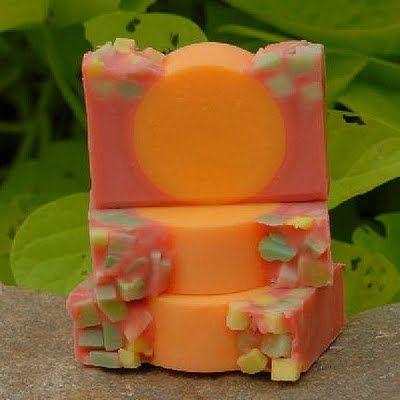 Mango Sunrise soap by Diana Sauer