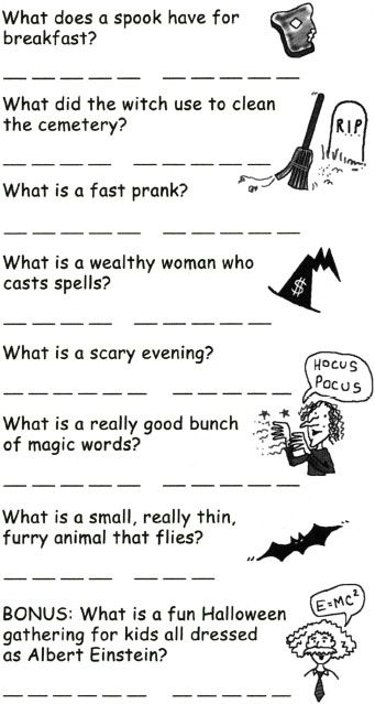 graphic relating to Hink Pinks Printable identified as Haunted Hink Pinks - Halloween Puzzles and Routines for