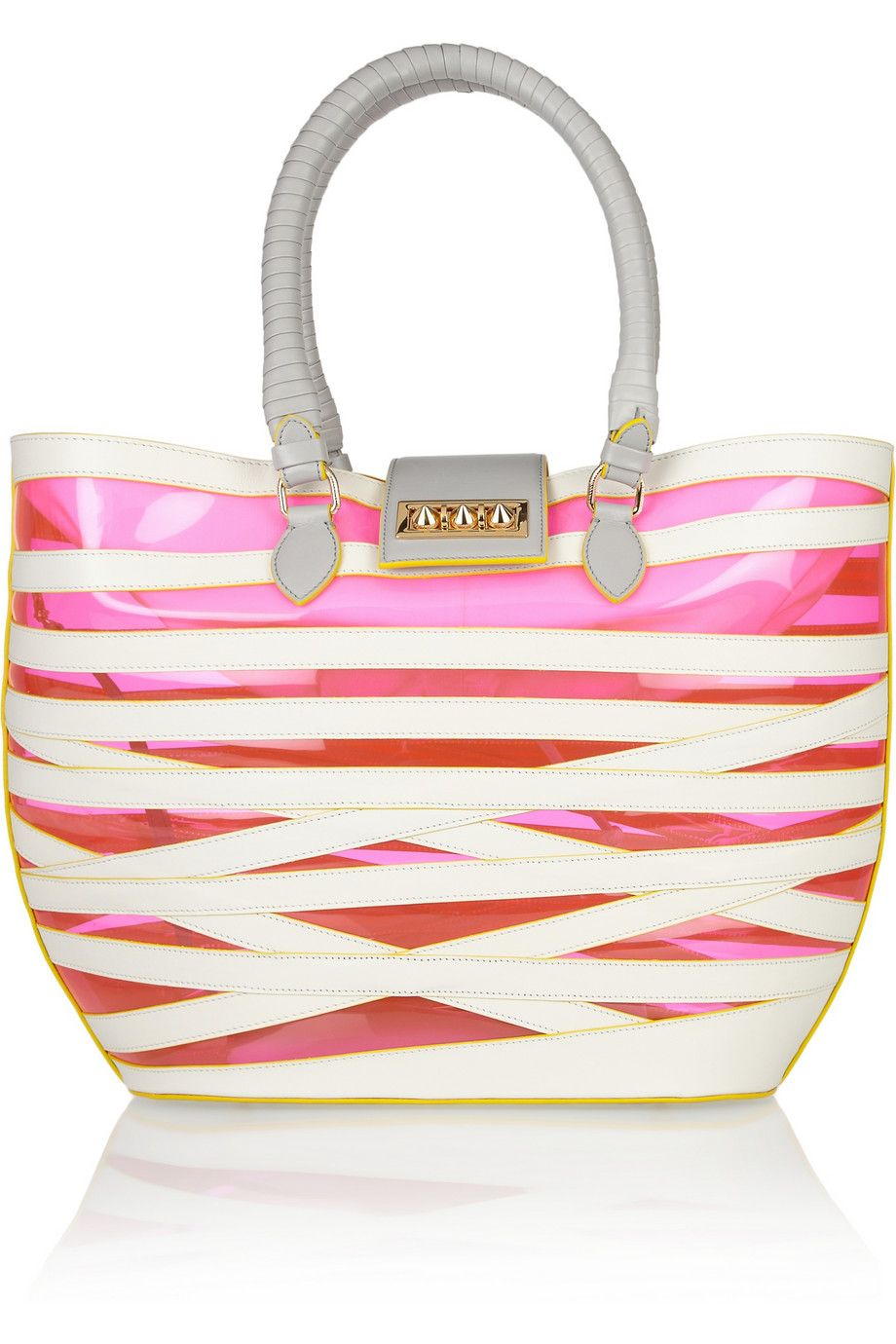 Christian Louboutin | Padam leather and PVC tote  | NET-A-PORTER.CO