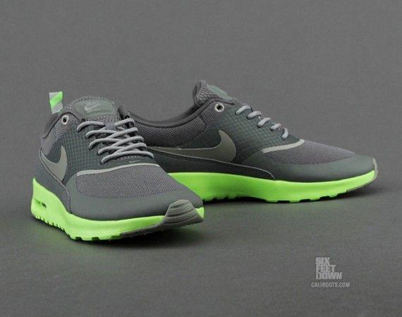 Exciting Mens Nike Air Max Thea White Flash Lime