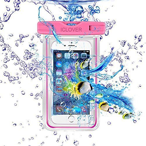new concept fe8f3 7a0ec Floating Waterproof Case Pouch, CaliCase® [Universal] [Pink Glow in ...
