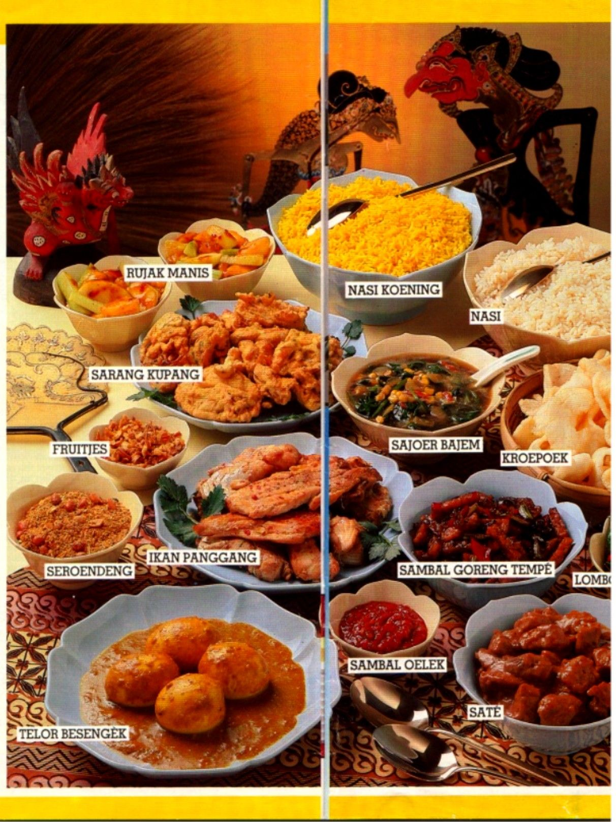 Rijsttafel Rice Table Dutch Indonesian Dishes Foreign Sambal Bawang By Aisha Store Sby