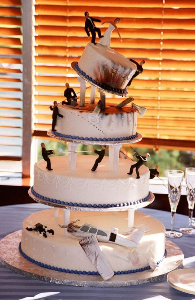Bond Wedding Cake