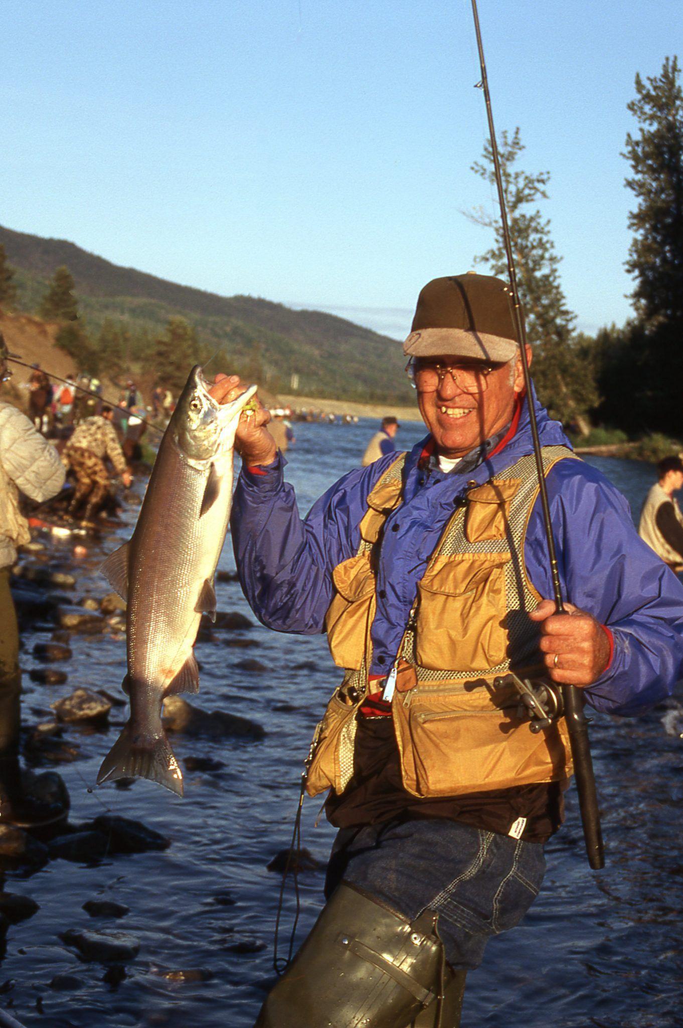 Salmon Fishing Proud Catch Alaska Photograph