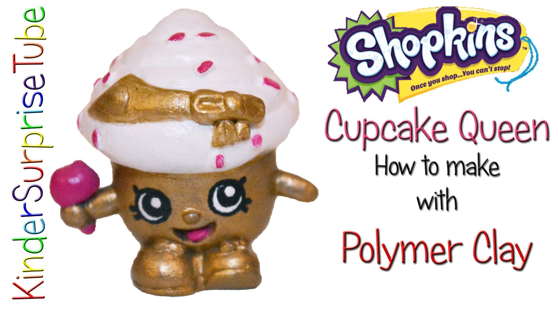 Sh shopkins coloring pages cupcake - Shopkins Limited Edition Cupcake Queen How To Make With Polymer Clay Sho