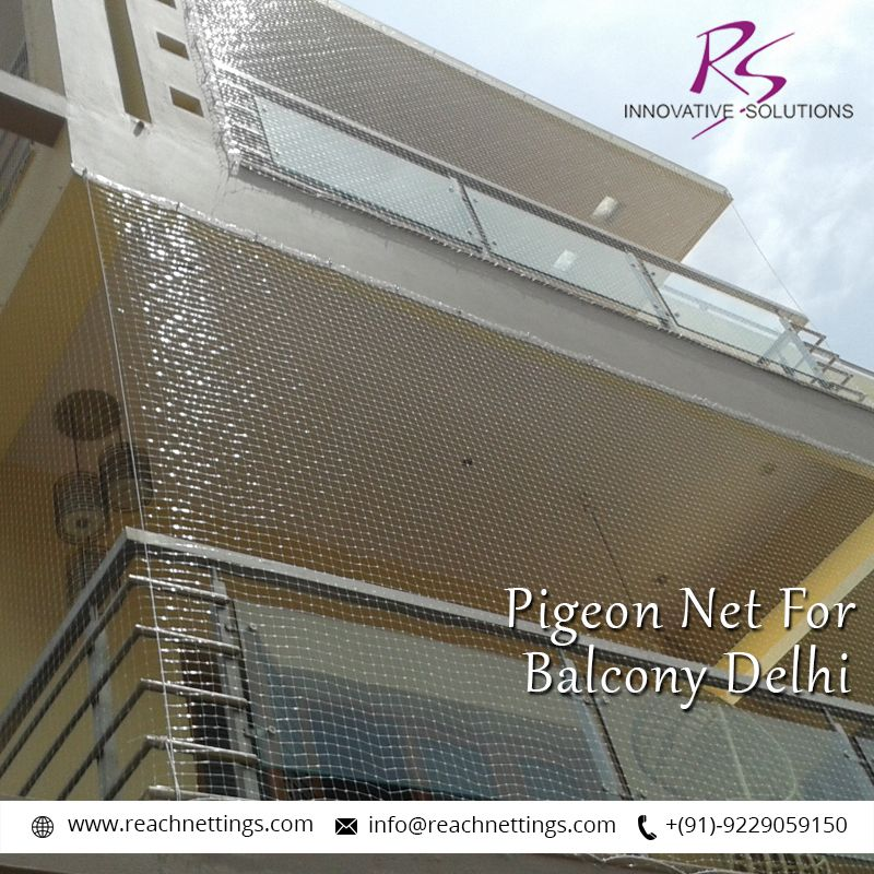 Pigeons are a perennial problem on balconies. Our #pigeonnettings tools make it impossible for the birds/pigeon to land over the balcony.