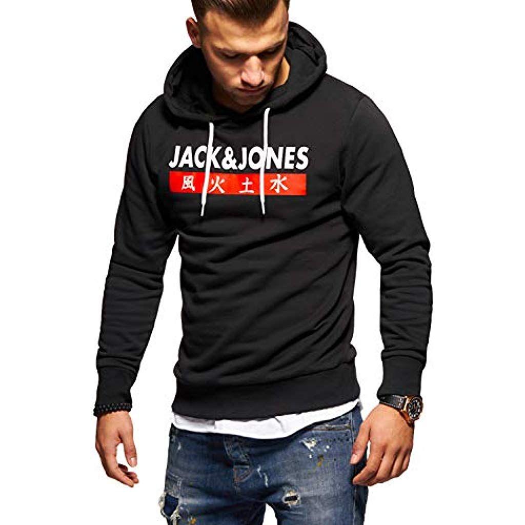 Jack /& Jones Herren Pullover Hoodie Kapuzenpullover Sweater Pulli Sweatshirt NEU