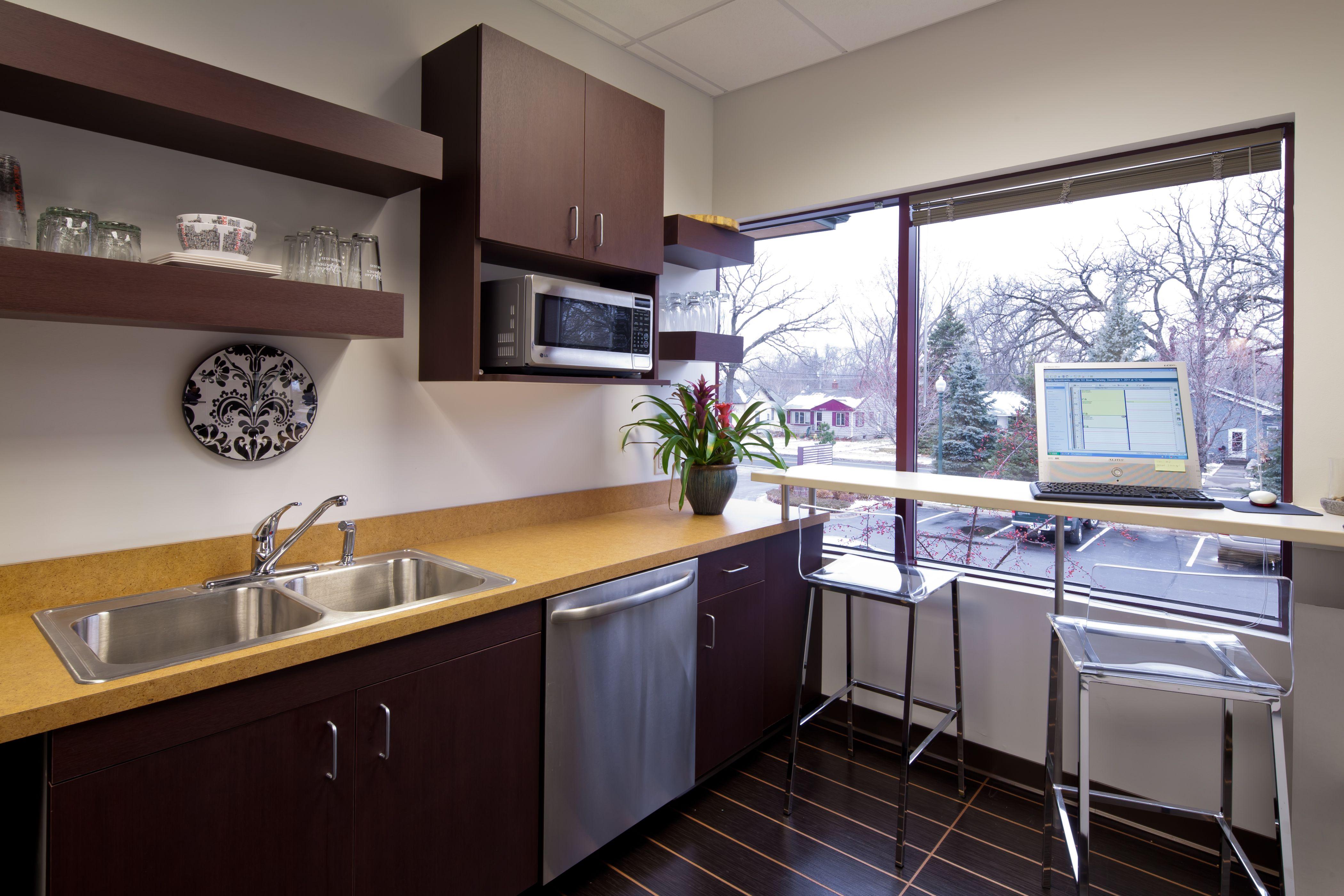 Medical clinic breakroom Medical office design, Break