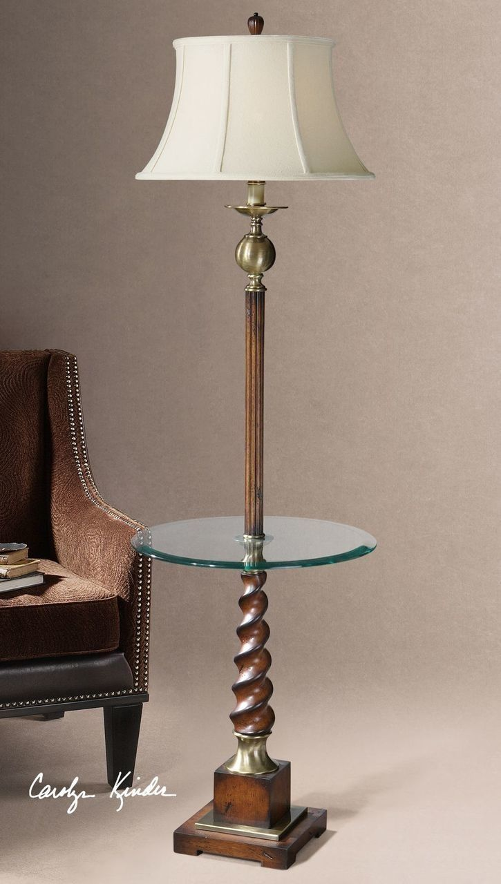 Uttermost Myron Twist End Table Floor Lamp 28568 Floor Lamp Contemporary Floor Lamps Bedside