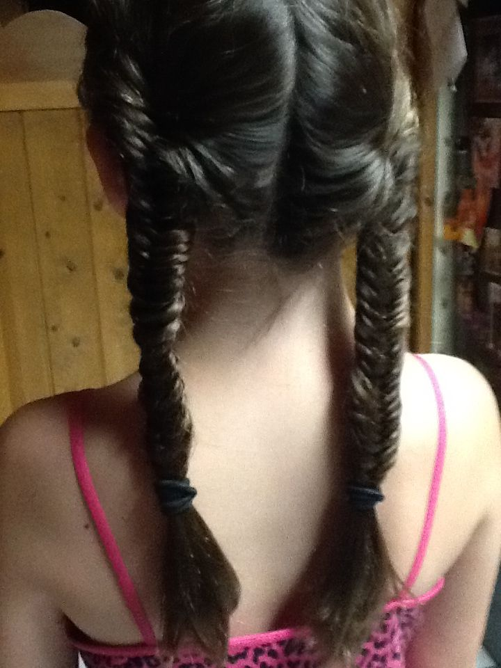Two fishtail braids. Super cute!!