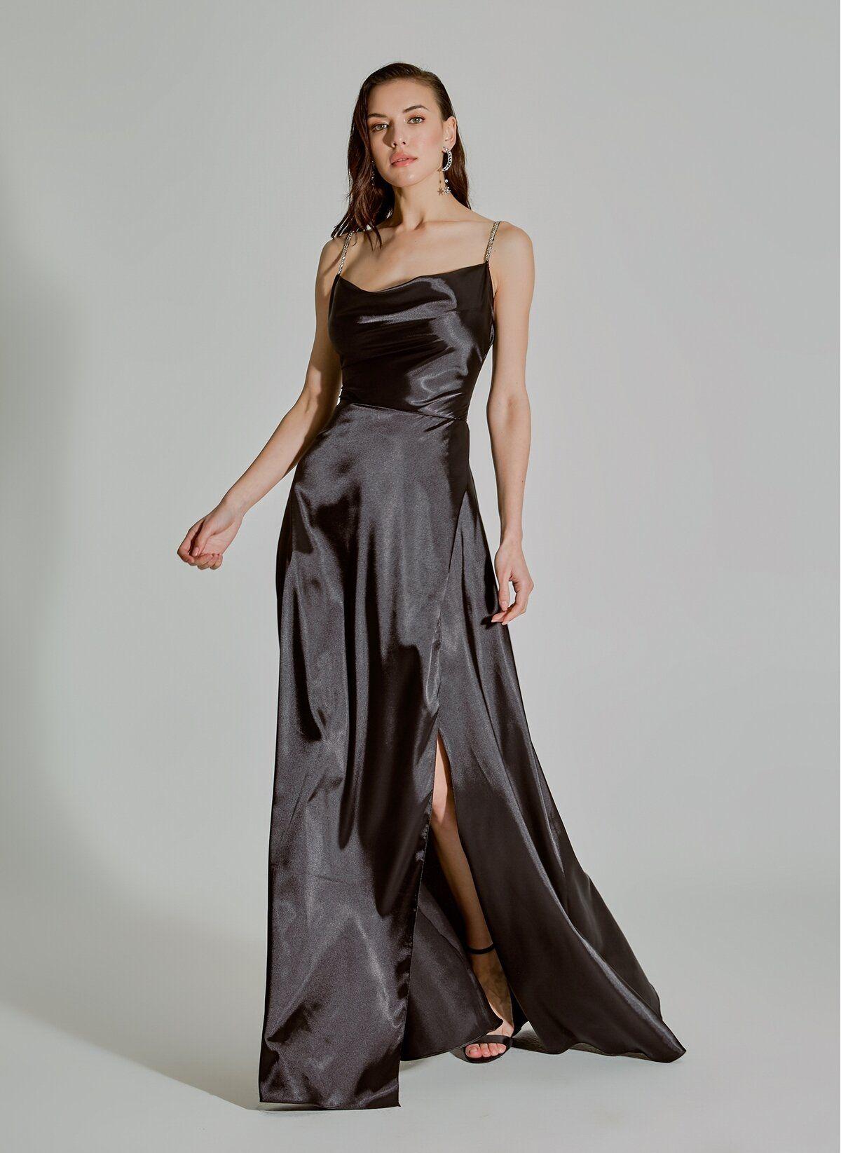 People By Fabrika Pfkss20el0171 Saten Abiye Morhipo 2020 Aksamustu Giysileri Elbise Moda Stilleri
