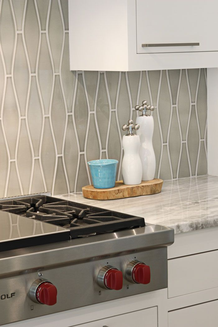 Pratt and larson tile ogee kitchen kitchen in 2019 - Kitchen tile backsplash design ideas ...