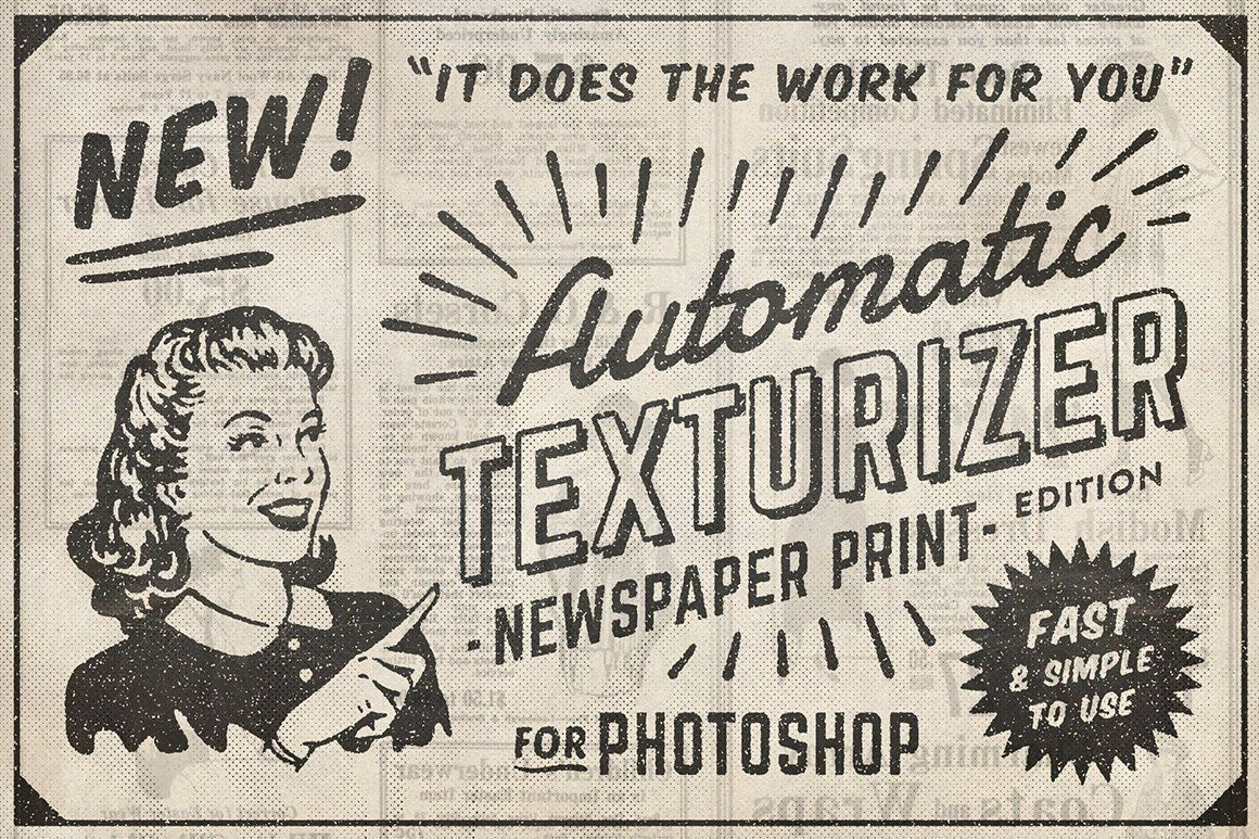 Automatic texturizer - vintage newspaper effect layer styles for