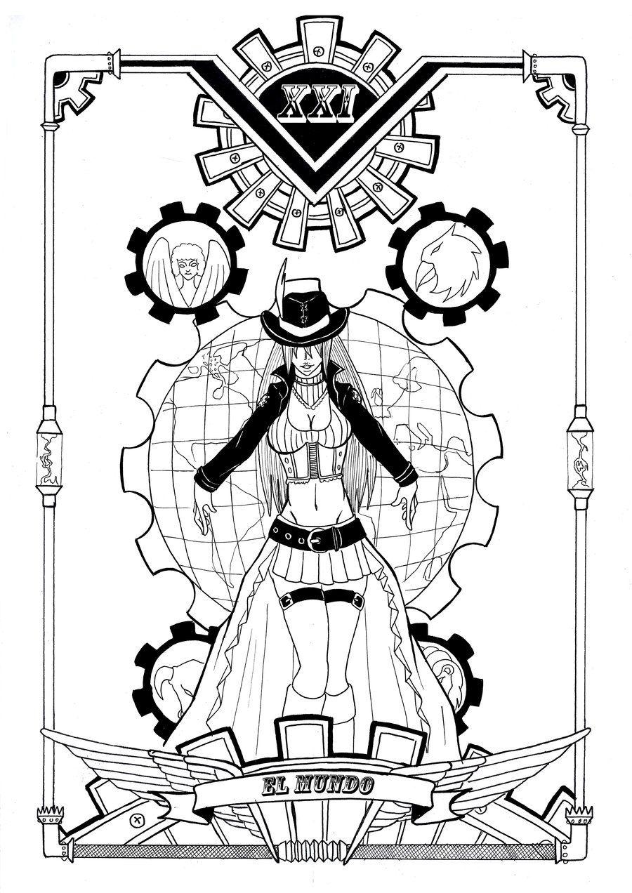 Steam Tarot XXI El Mundo By Yurio Art DeviantArt