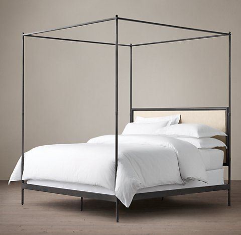 All Canopy Four Poster Beds Rh Intended For Metal Bed Design 1
