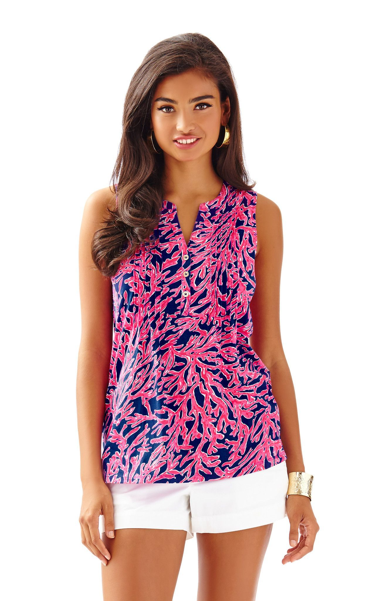Benton Top in Tropical Pink Did You Catch That