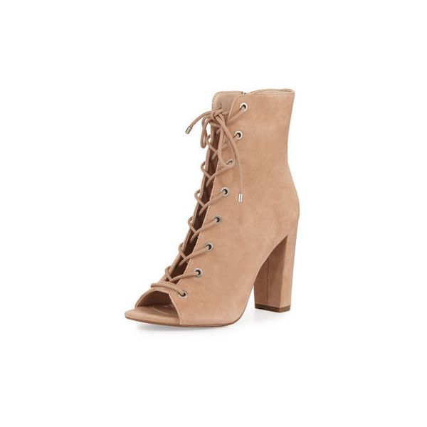f2eeff79358 Bcbgeneration Ripley Suede Lace-Up Bootie ($71) ❤ liked on Polyvore  featuring shoes