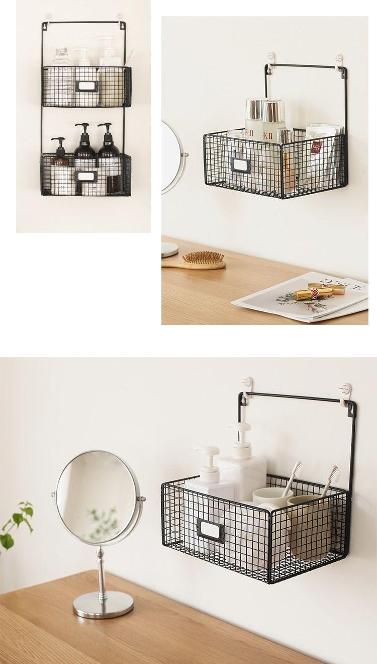 Home Office Veranstalter Buro Lagerung Schreibtisch Organisation Hangen Rack Korb Metall Schlafzimmer Bad Tisch Schreibtisch Organisation Hausburo Organisation