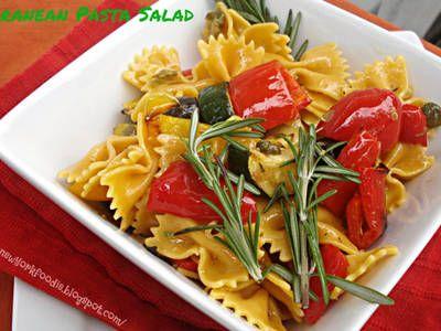 Mediterranean Pasta Salad with Grilled Vegetables