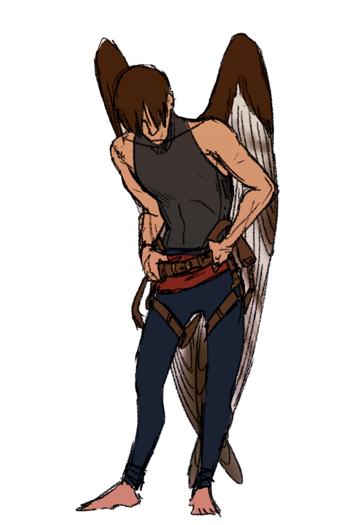 look at this grouchy birdman Male fairy, Fantasy