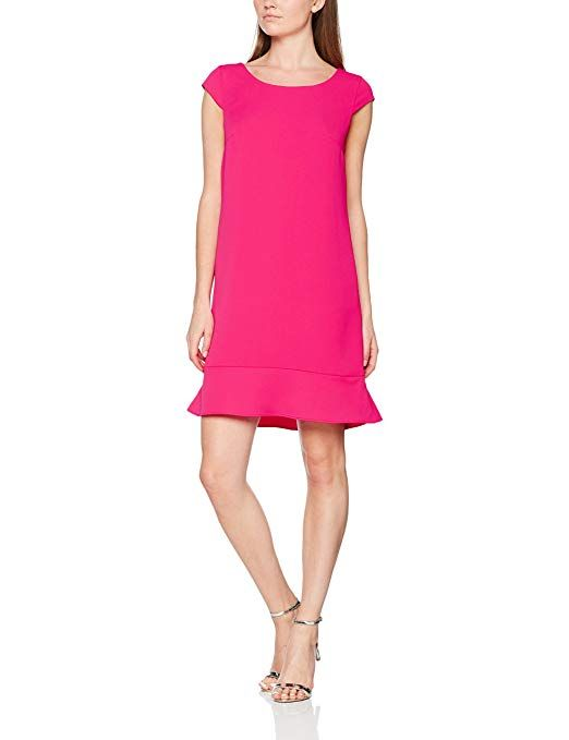 comma Damen Kleid 85899820499, Rosa (Pink 4462), 38 ...