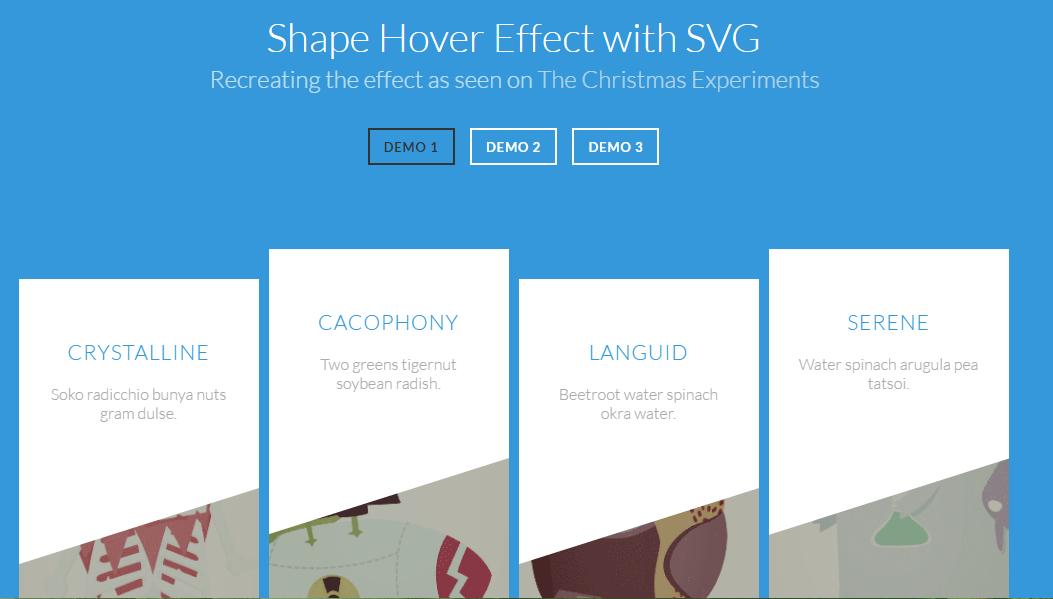 Shape Hover Effects using CSS3 | WebDeveloper Resources | Svg shapes