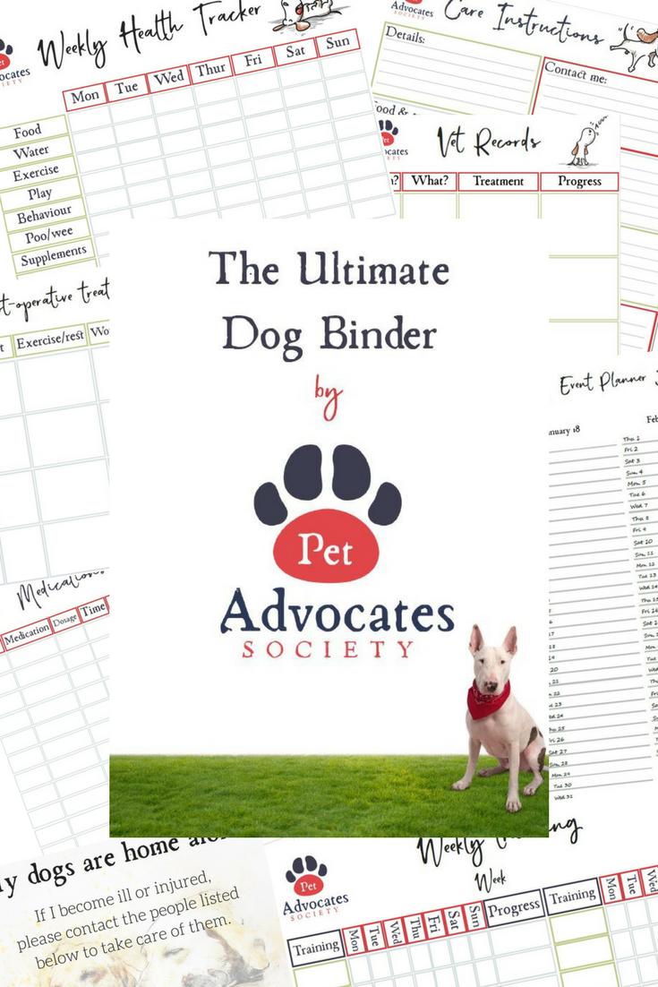 ultimate dog binder pet care kit dog planner dog health tracker
