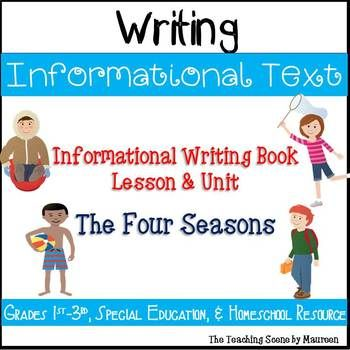 Seasons Informational Text Writing Writing posters, Informational - lesson plan objectives