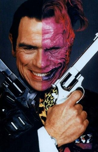 Halloween costume for Mark Tommy Lee Jones (Two Face)
