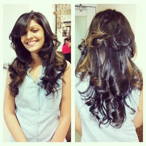 Perfect Multi Layered Indian Open Hair Hairstyle