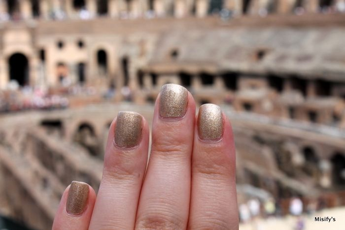 Love for Rome. My nails from our trip to Rome, photographed with Colosseum. OPI - Love. Angel. Music. Baby.