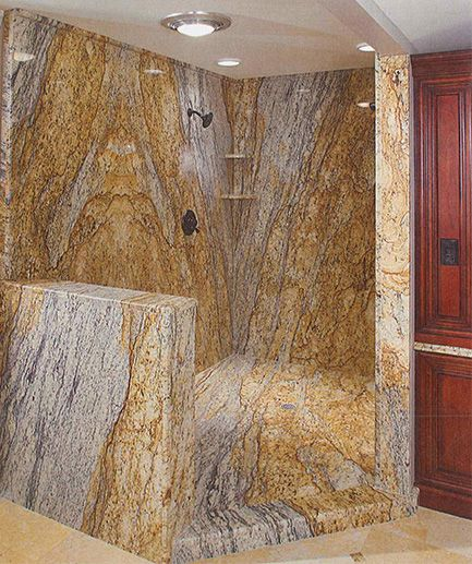 Granite Bathroom Walls Book Matching Stone Slabs N E W