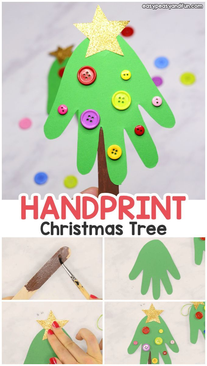 Handprint Christmas Tree Christmas Craft For Kids Or A Diy Ornament Easy Peasy And Fun Childrens Christmas Crafts Handprint Christmas Christmas Crafts For Kids