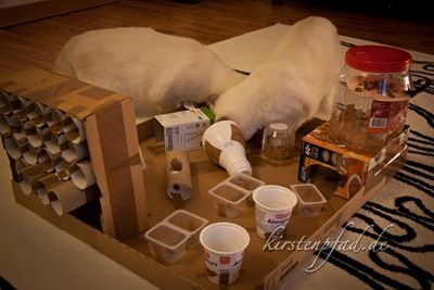 tolles fummelbrett katzenspielzeug pinte. Black Bedroom Furniture Sets. Home Design Ideas