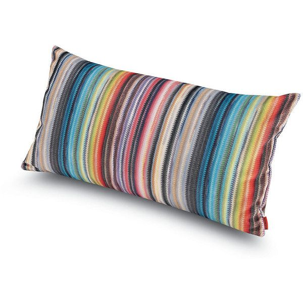 Missoni Home Siberia Cushion - 100 - 30x60cm (310 CAD) ❤ liked on Polyvore featuring home, home decor, throw pillows, multi, rectangle throw pillow, colorful throw pillows, striped throw pillows, multi color throw pillows and multi colored throw pillows