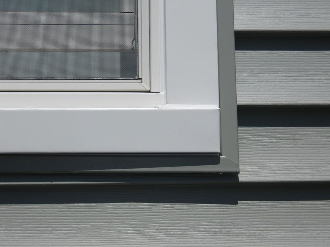 Vinyl Siding And Window Trim Installation The Windowman Plus Vinyl Siding Vinyl Siding Trim Grey Vinyl Siding
