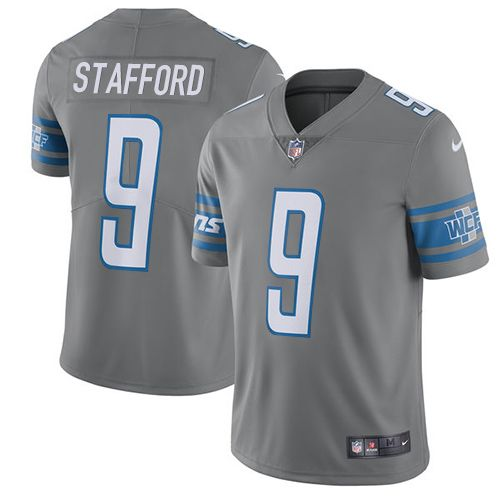 Nike Lions  9 Matthew Stafford Gray Youth Stitched NFL Limited Rush Jersey  And  nfl d5c365032c8