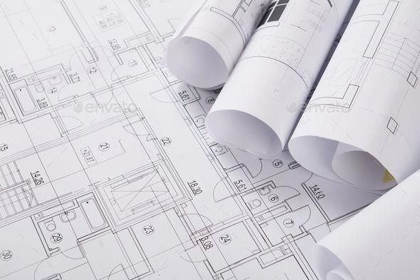 Plan Of Building Architectural Project Background By Prostock Studio Plans Of Building Architectural Project Backgro Floor Plan Design Architecture Building