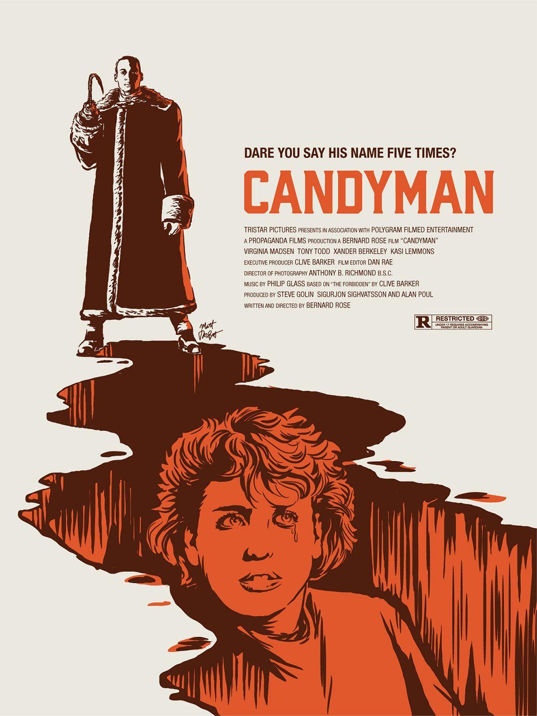 Candyman Poster By Matt Talbot Classic Horror Movies Posters Horror Movie Art Horror Movie Characters