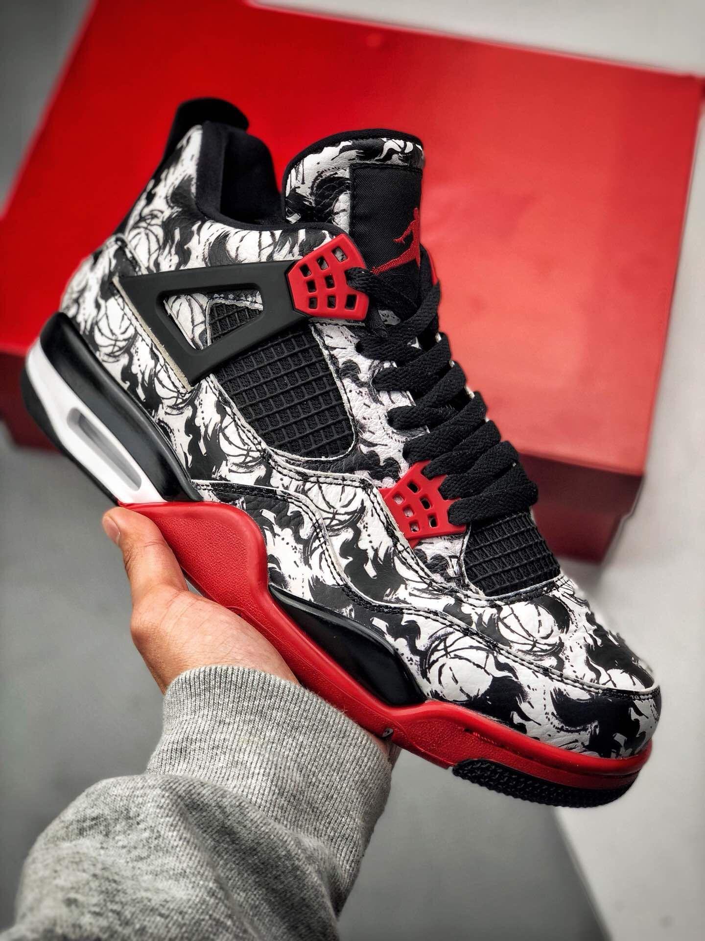 1e1dc34ddf0b Nike Air Jordan 4 Retro SNGL DY Singles Day Tattoo BQ0897-006