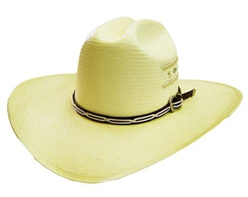94487cc5e04 Modestone Concho Woven Rope Bangora Straw Cowboy Hat 54   For Small Heads