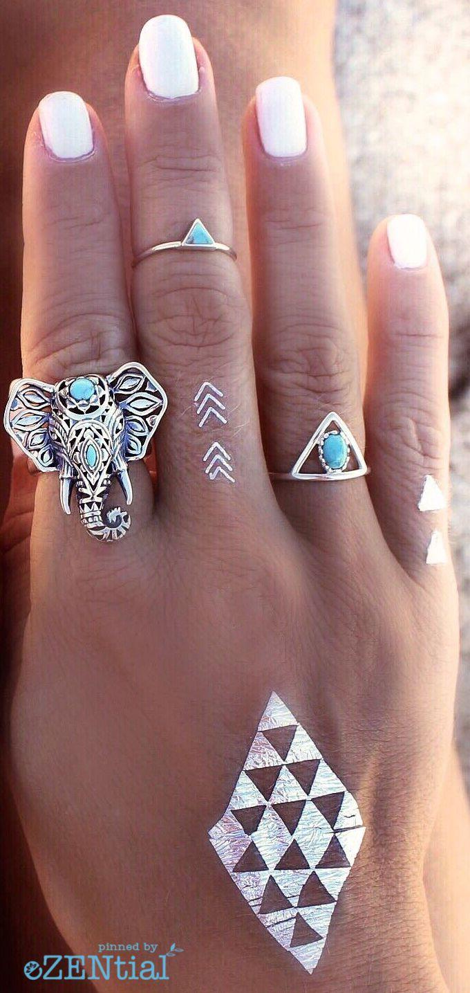 J 39 aime beaucoup la bague elephant tatouages pinterest style boh me anneaux d 39 l phant - Tatouage gitane signification ...