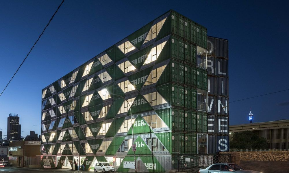 Striking Apartment building is Made up of 140 Shipping