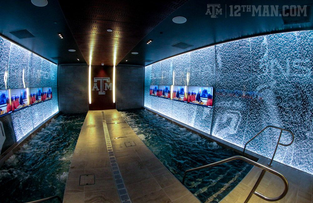 Bright Football Complex Tour Texas A M Hydrotherapy Pool Texas A M Football